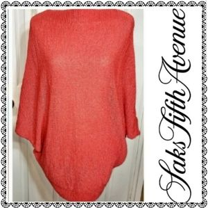 {Threads Saks Fifth Avenue} red oversz sweater, S